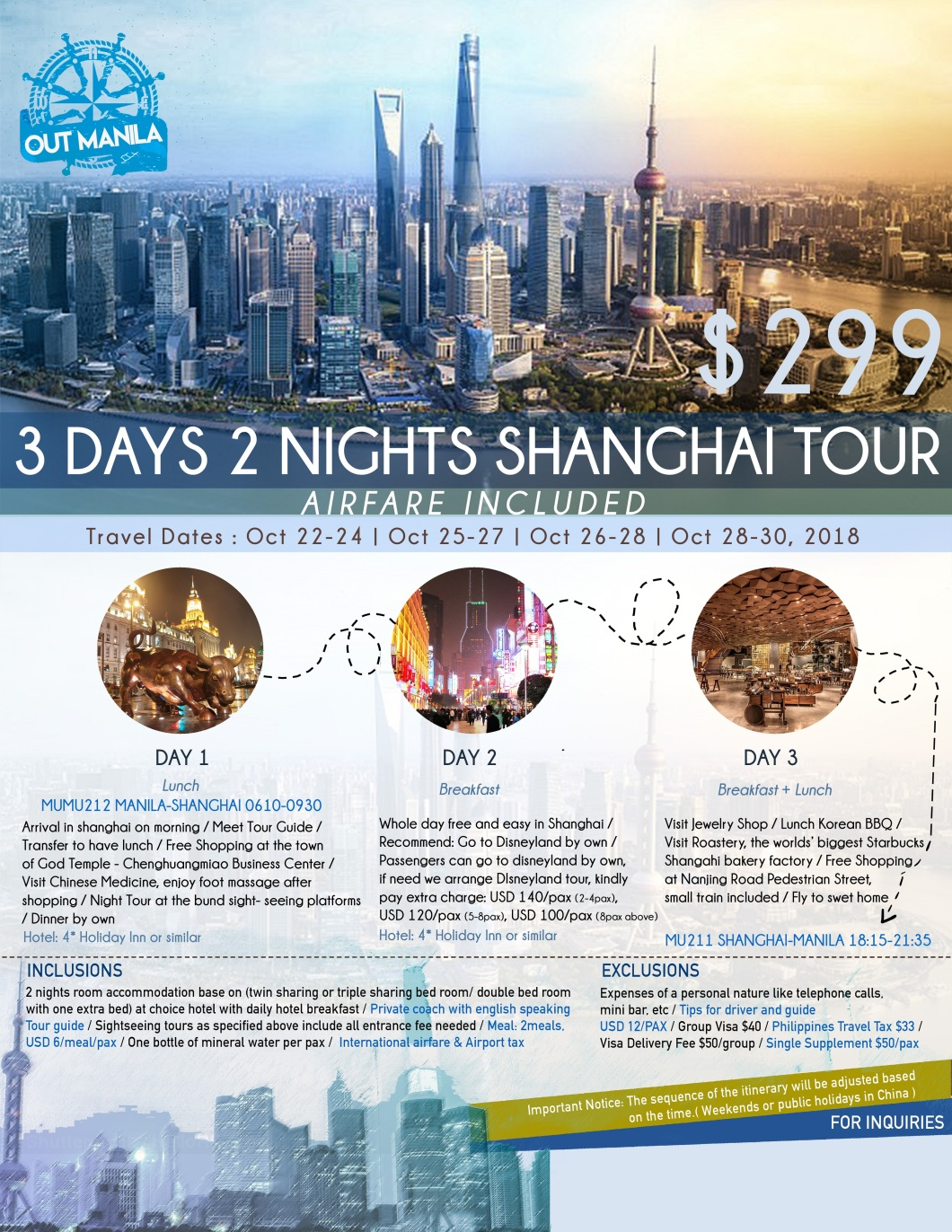 Shanghai China Tour Package from Philippines