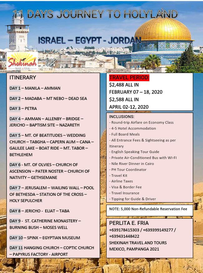 Manila to Israel Holy Land Tour
