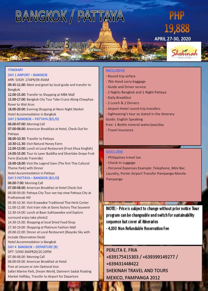 Manila to Bangkok Tour
